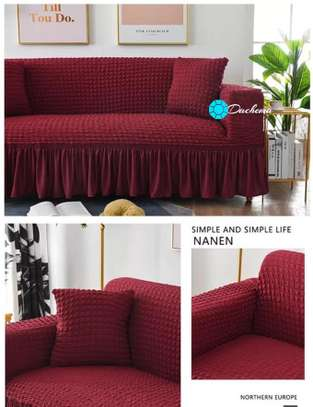 5 seater maroon sofa covers image 1