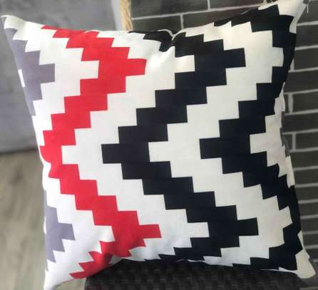 red/black throw pillows image 1