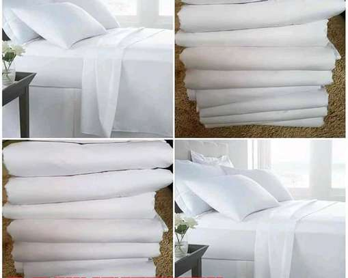 Quality Plain white Cotton Duvet covers image 2