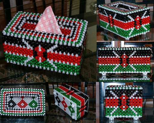 Rectangular Kenyan Flag Serviette Holder