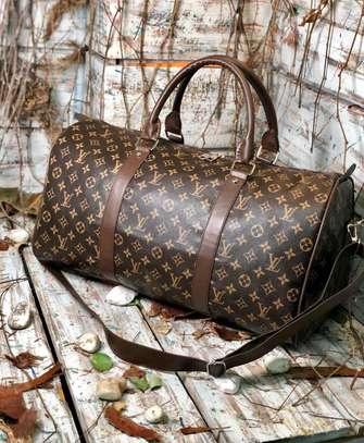 Louis Vuitton leather duffle bag image 1