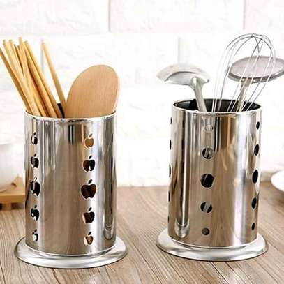 Stainless steel Cutlery holder image 1