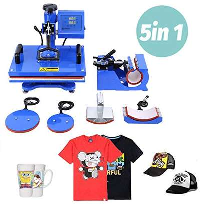 8 in 1 Combo Multifunctional Swing Away Clamshell Printing Sublimation Heat Press Transfer Machine for T-Shirt Hat Cap Mug Plate 15 x 15 Inch