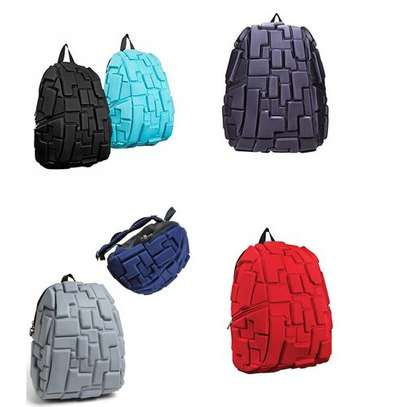 School Bag,Travel Bag,Antitheft Bag with 3D Block Patterns - Varying Colour - One size