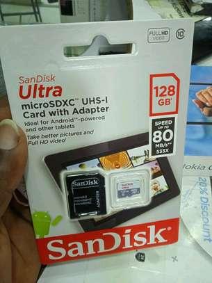 128gb memory cards-Original San disk Speed Upto 80mb/s image 1