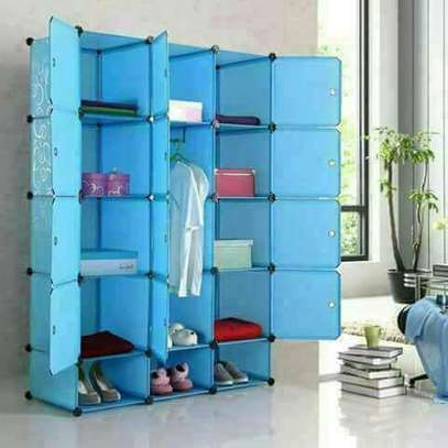 Three Column Plastic Combined Wardrobe