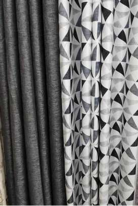 Grey Double Sided Curtain image 1