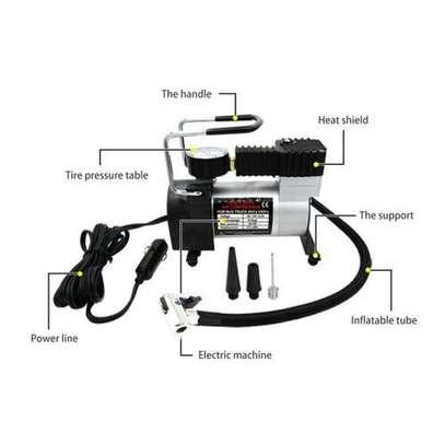 Portable DC 12V Metal Air Compressor Tyre Inflator Electric Pressure Gauge image 4