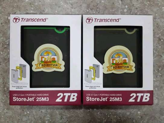 Transcend 2TB External Hard Drive brand new and sealed in a shop. image 1