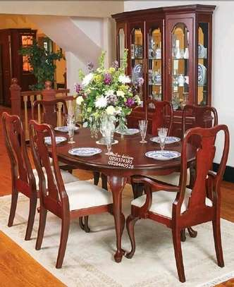 Modern dining table/Classic mahogany six seater Dining tables image 1