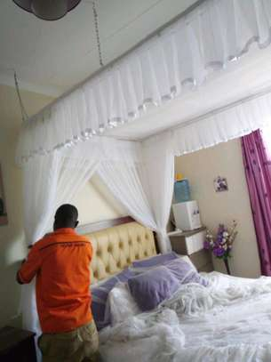 Brand new custom made Rail shears mosquito nets sliding like curtains fixed on the ceiling image 8