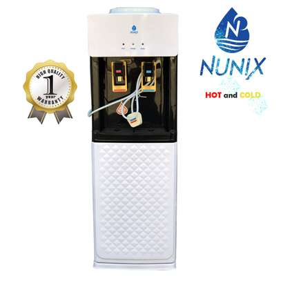Hot and Cold Free Standing Water Dispenser-White & Black NUNIX