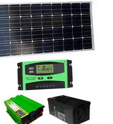 100 Watts Complete Power and Lighting Solar Panel System Kit image 1