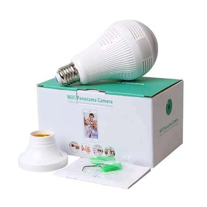 Bulb cctv camera with audio