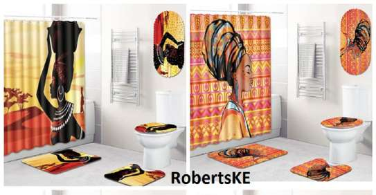 African print bathroom mats image 1