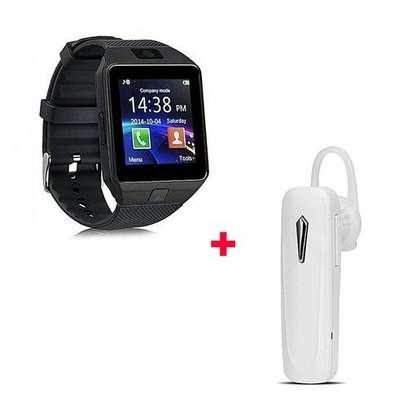 Generic DZ09 Smart Watch Phone With Free Bluetooth White - Black image 1
