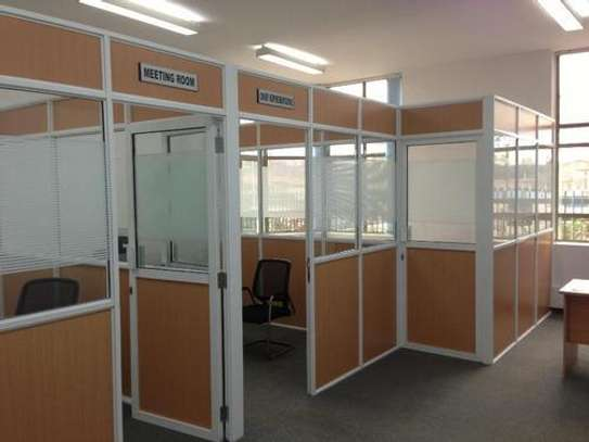 Office partition – gypsum, aluminum, MDF, glass partition