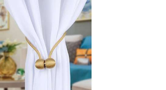 Classy White Curtain Holders image 2