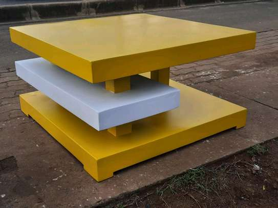 New yellow and white coffee table image 1