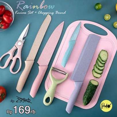 7pc knife set with chop board image 3