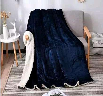 5 by 6 Flannel Throw Sherpa Super warm Fleece blanket image 8