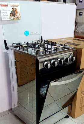 Redberry silver freestanding gas cooker with oven image 1