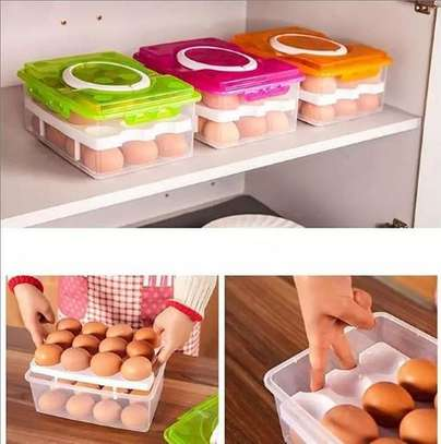24 pieces egg storage containers image 1