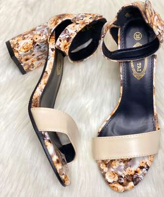 Floral Chunky heels image 6