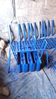 Triple interlocking brick press image 2