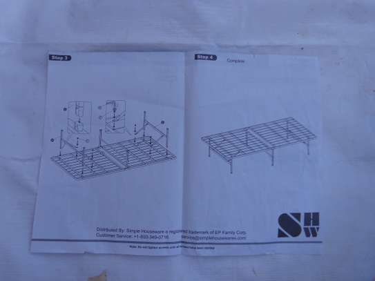 Simple houseware twin size bed frame image 2
