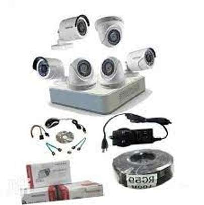 6 HD CCTV Camera  Installation Kit (with Night Vision + 1TB Storage + 100m Cable) image 1