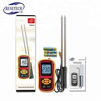 Grain Moisture Meter Corn Wheat Rice Bean Wheat +Measuring Probe GM640 Portable LCD Digital Hygrometer Humidity Tester image 1