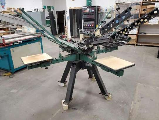 Best  Manual 4 Color 4 Station Screen Print Machine image 1