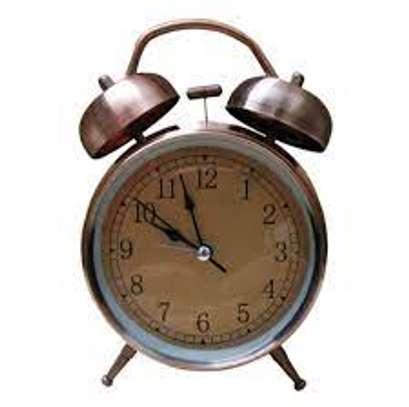 Modern Twin Bell Alarm Table Clock image 1