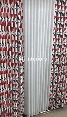 Double sided curtains and matching sheers