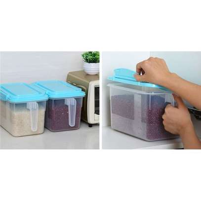 1pc Airtight Fridge Food Storage Organizers Rice & Cereal Container With Lid and Handle image 3