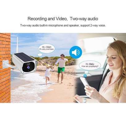 Smart Rechargeable Night Vision WiFi IP Solar Surveillance Outdoor HD 1080P Camera image 3