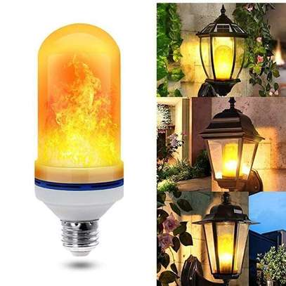 LED Flame Effect Flickering Fire Light Bulb with Gravity Sensor image 2