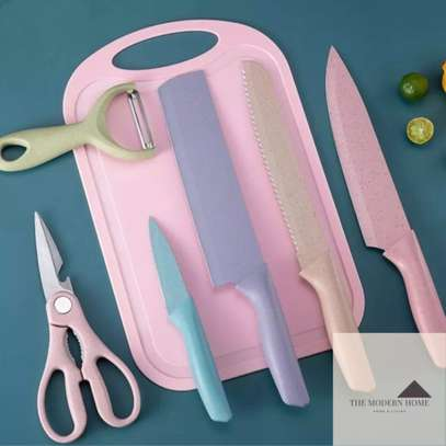7pc knife set with chop board image 5