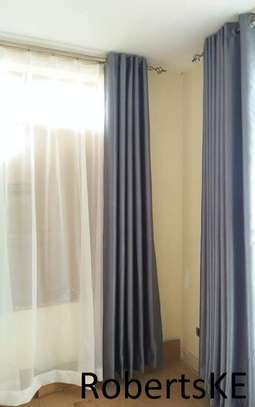 affordable grey unique curtain image 1