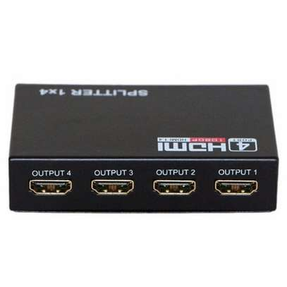 Hdmi Splitter 1x4 4 Port Full Hd Hub Repeater Amplifier V1.4 3d 1080p 1 In 4 Out image 1