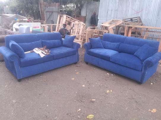 Simple Modern Quality Permanent Back 5 Seater Sofa image 1