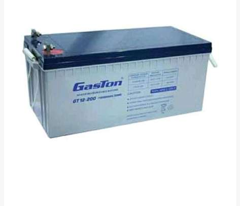 Gaston sealed maintainance free solar battery 12v 200ah 20hr image 2