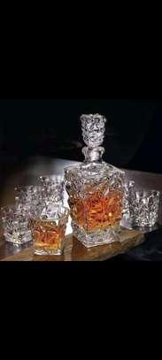 Classy whiskey decanter set image 1