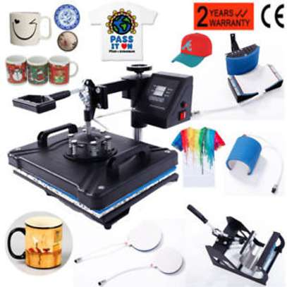 Heat Press 5 in 1 Swing Away Heat Press Machine