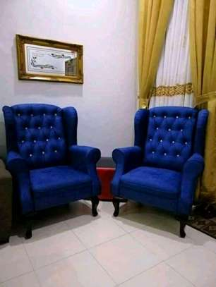 Chesterfield wing chairs image 1