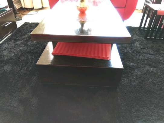Modern Black Wood Coffee Table image 2