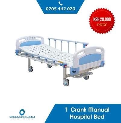 1 Crank Manual Hospital Bed  - single fold / function image 1
