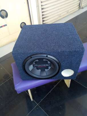 PIONEER TS-300S4 BASS SPEAKER 1400W PLUS BASS BOX CABINET image 1