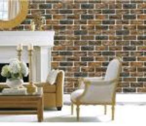 Chic brick wall papers image 1